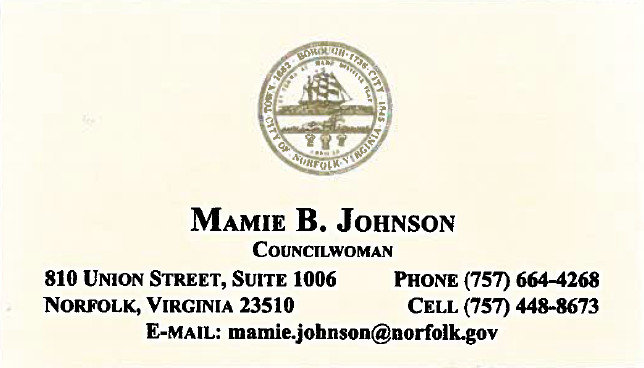 Mamie B Johnson, Councilwoman